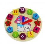 OEM - Number Puz Baby Toys Wooden Digital Clock