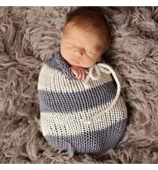24E - Newborn Baby Stretch Wrap Knit Baby Swaddle Wrap Rug