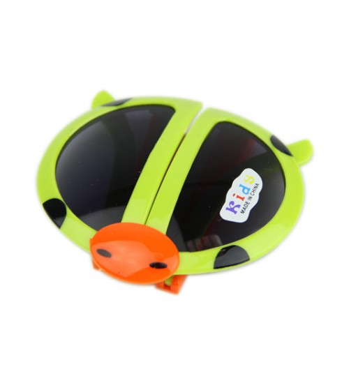 OEM - Fashion Cartoon Style Folding Beetle Kids Sunglasses Green
