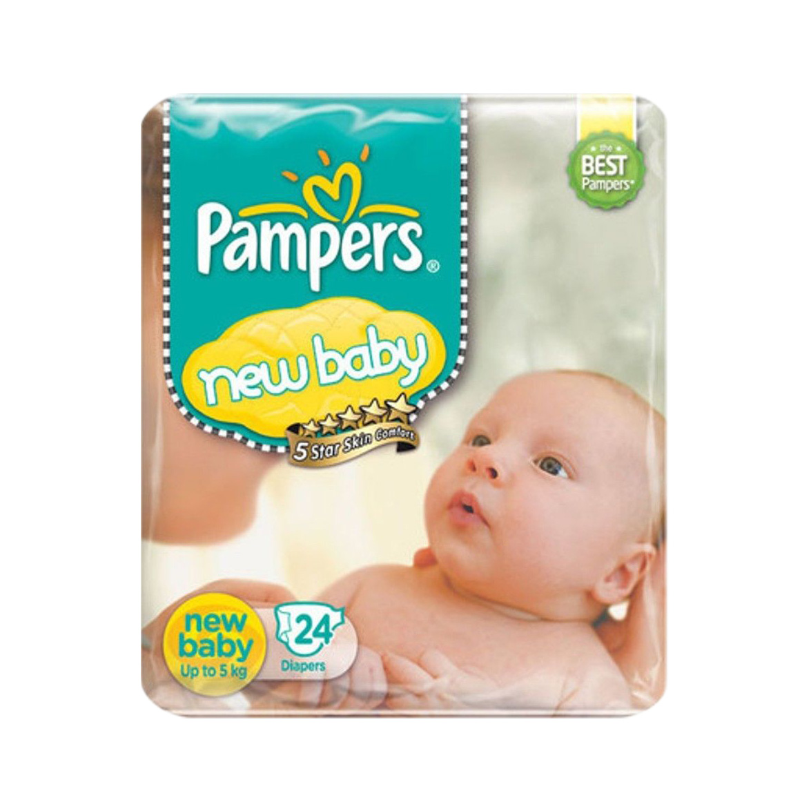 pampers new baby diapers taped nb size 24 pads