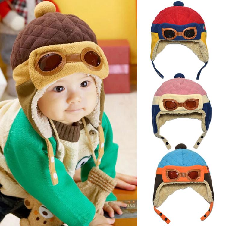 7685625549ec32 OEM - Kids Infant Winter Pilot Warm Cap Hat Blue